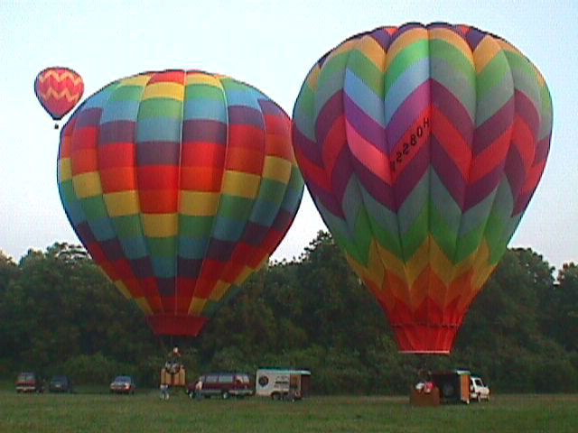 Local morning balloon flight,